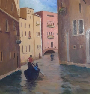 """06 - """"Venice"""" by Mary Kelly - Oil - 16""""x20"""" - $500 framed - contact dorea1@yahoo.com"""