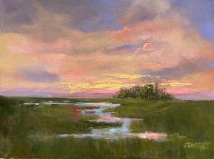 """10 - """"Moonlit Shadows"""" by Jeannette Corbett - Oil  - 12""""x16"""" - $1600  - contact jeannette_corbett@yahoo.com"""