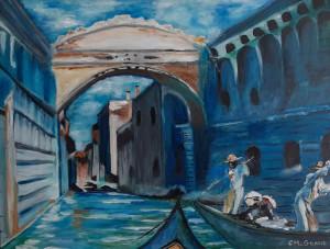 "11 - ""Romantic Venezia"" by Caroline McGrane - Oil  - 18""x24"" - NFS - contact carolinemcgrane47@gmail.com"