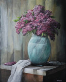 "13 - ""Lilac Still Life"" by Frank Tomasello - Acrylic - 16""x20"" - $275  - contact f_tomasello@comcast.net"