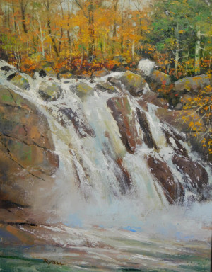 """20 - """"The Falls"""" by James Ryan - Oil  - 11""""x14"""" - $800 framed - contact jimrartist@comcast.net"""