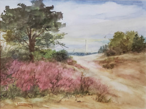 """30 - """"By the Sea"""" by Lorraine O'Brien - Watercolor - 17""""x14"""" - $200 framed - contact lorraineob@verizon.net"""