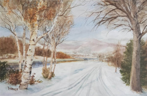 "31 - ""Cross Country Trail"" by Lorraine O'Brien - Watercolor - 24""x18"" - $300 framed - contact lorraineob@verizon.net"