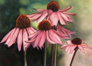 "37 - ""Exuberance"" by Shaila Desai - Watercolor - 12""x9"" - $350 framed - contact rdesai36@yahoo.com"
