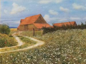 "41 - ""Wildflower Farm"" by Bill Deveney - Watercolor - 14""x11"" - $250  - contact bdeveney66@gmail.com"