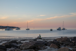 """45 - """"Rockport, MA – Front Beach Sunset"""" by Mark Bankoff - Photograph - 18""""x12"""" - $60  - contact mbankoff@comcast.net"""