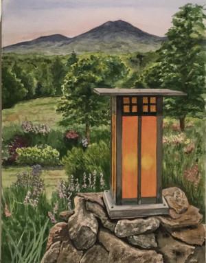 "47 - ""Lantern"" by Patricia O'Connor - Watercolor - 20""x16"" - $150  - contact ptoco@msn.com"