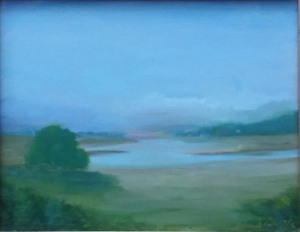 """51 - """"Misty Essex"""" by Louise Conti - Oil - 14""""x11"""" - $275  - contact louise.conti@verizon.net"""