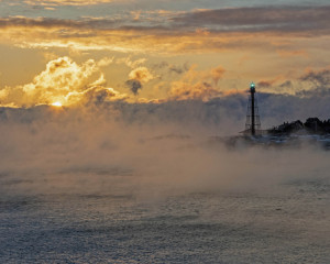 """64 - """"Sea Smoke"""" by Greg Pronevitz - Photograph - 8""""x10"""" - $99 matted and framed - contact gregp@parula.us"""