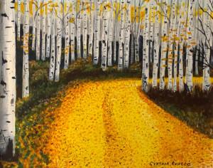 "72 - ""Birch Splendor"" by Cynthia Ruocco - Acrylic - 11""x14"" - NFS - contact cindiruocco@yahoo.com"