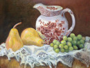 "74 - ""Lucia's Prized Pitcher"" by Audrey LaRosa - Oil - 26""x12"" - $450  - contact audrey203jl@gmail.com"