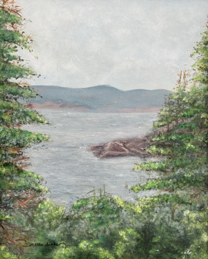 """76 - """"Acadia National Park"""" by Ellen Sinkewicz - Acrylic - 16""""x20"""" - $350  - contact esinkewicz@gmail.com"""