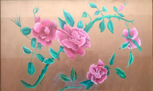 """89 - """"Pretty in Pink"""" by Pauline Finberg - Mixed mdeia - 13""""x21"""" - $450 framed - contact pefin@comcast.net"""