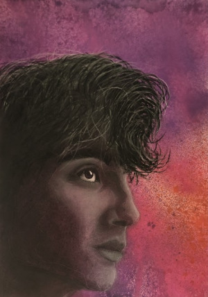 35A. Timothee Chalamet Charcoal by Grace McKrell