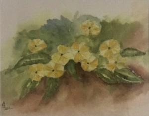 39B. Little Yellow Flowers by Ann Leskiw