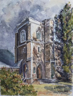 23B. West Face Church by Anne  Rogers