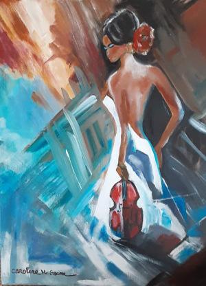 14B. Woman with the Viola by Caroline McGrane