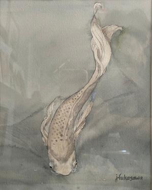 33A. Silver Koi by Joyce Fukasawa