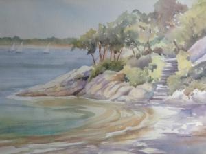 13B. Half Moon Beach by Louise Anderson