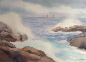 13A. Water on the Rocks by Louise Anderson