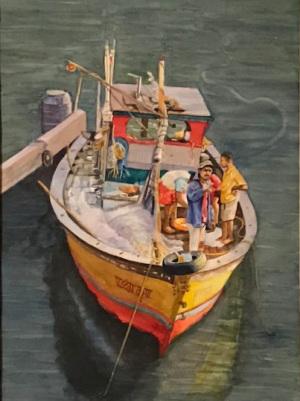 9B. Fishing Boat by Maya Jacob
