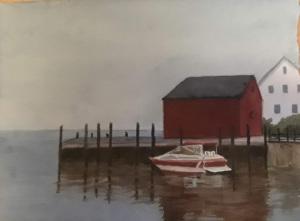 3B. Grey Day in Lunenburg, N.S. by Mary Kelly