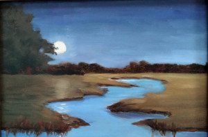 3A. Moonlight Over Cape Cod by Mary Kelly