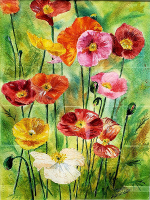 2A. Poppies by Beth Aaronson