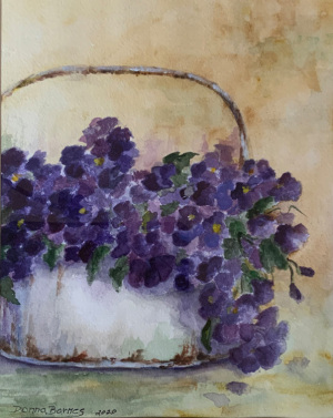 20A. Violets in Spring by Donna Barnes