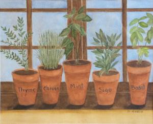 25A. Fresh Herbs by Debra Reece