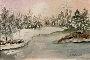33B. Spring Thaw by Joyce Fukasawa