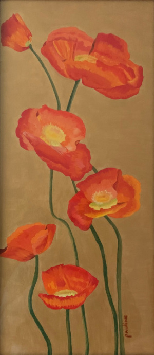 40B. Finally Spring and seeing Red by Pauline Finberg