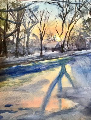 19B. Winter Sunrise  by Ruth Clark