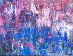 """""""Bubbles 1""""  18""""x24""""  Acrylic"""