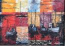 """Fishing Boats""  32""x46""  Oil"