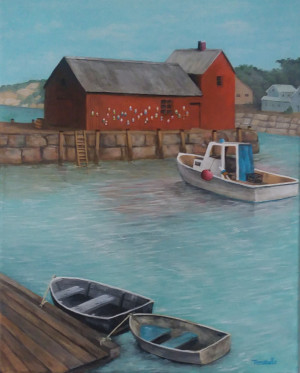 Motif With Boats
