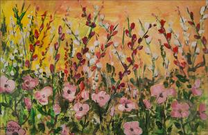 """""""Wildflower 2""""  12""""x18""""  Acrylic"""