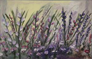 """""""Wildflower 4""""  12""""x18""""  Acrylic"""