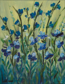 """Irises""  11""x14""  Acrylic"