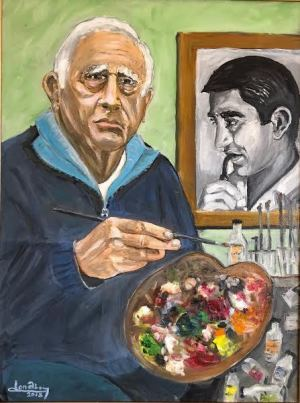 """Self portrait""  18""x24"" Oil"