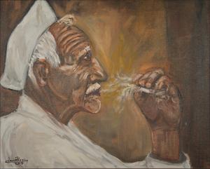 """The Smoker"" 16""x20"" Oil"