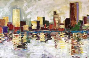 """Reflection Boston""  24""x36""  Oil"