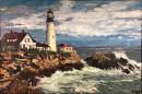 """""""Portland Lighthouse"""" 24""""x36"""" Oil"""