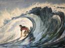 """Surf's up""  30""x40""  Acrylic"