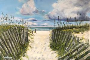 """""""To the beach""""  24""""x36"""" Acrylic"""